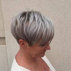 #50: Thick Bob with Cute Side Bangs This gorgeous gray bob is so versatile and will take you from day to night. Here's a hairstyle that looks equally cool at ho