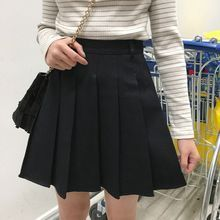 Mihoshop Ulzzang Korea Women Fashion Clothing 2017chic thin solid pleated skirt all-match a A-line skirt //FREE Shipping Worldwide //