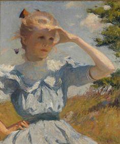 Frank Weston Benson, Eleanor , 1901, regalo della Tenuta della signora Gustav Radeke. Museum of Art, Rhode Island School of Design, Providence