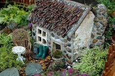 Fairy garden home, up close!