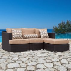 Clean sleek lines, a modular European design and a Sirio quality handmade construction make the Morgan Sofa Set perfect for any outdoor living area. The sofa set offers many possible configurations, adapting easily to fulfill your changing needs.