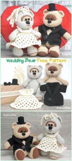 Amigurumi Wedding Teddy Bear Free Pattern - Amigurumi Crochet Teddy Bear Toys Free Patterns