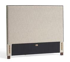 Fillmore Square Upholstered Bed & Headboard #potterybarn