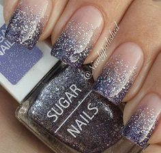 60 Glitter Nail Art Designs Degraded nail art and silver glitter nail art designed in French tips. Stand out from the crowd with beautiful glitter nail art designs Beautiful Nail Art, Gorgeous Nails, Pretty Nails, Fancy Nails, Posh Nails, Beautiful Hands, Silver Glitter Nails, Glitter Nail Art, Black Glitter