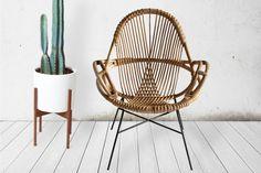 Sustainable, handmade and beautiful - Diamond Rattan Chair by Wend Studio, USA