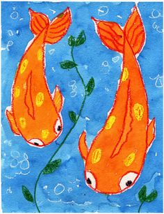 This Koi fish watercolor project has been one of my most popular pins on Pinterest since it went up a couple of years ago.