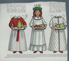 """Vintage Betsy McCall 'Santa Lucia"""" Paper Doll"""