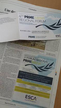 J-13 avant le #Forum MENA #PRME @ESCA_EM - inscrivez vous maintenant! @prme-menachapter4@esca.ma