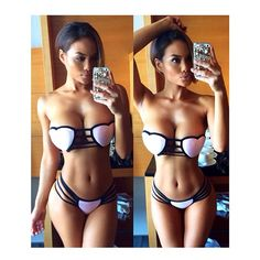 Love struck heart shaped top bikini by @iheartsugarbottoms