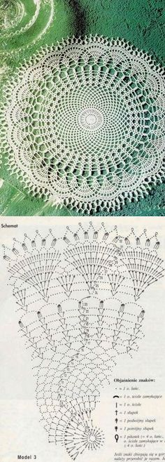 Round doily crocheted