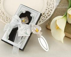 'Remember Romance' Calla Lily Bookmark in Gift Box Online with $0.67/Piece on Ljfflying's Store | DHgate.com