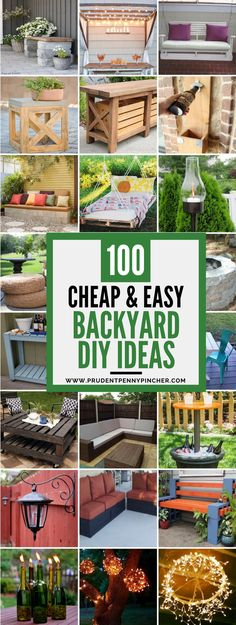Spruce up your backyard on a budget with these cheap and easy DIY backyard ideas. From patio ideas to landscaping ideas, there are plenty of DIY projects to choose from that are guaranteed to work for big and small yards. #backyard #patio #diy Garden Ideas Budget Backyard, Small Backyard Landscaping, Backyard For Kids, Easy Garden, Patio Ideas, Landscaping Ideas, Backyard Patio, Garden Bed, Small Patio
