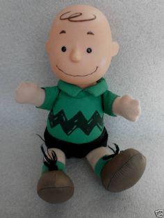 #CharlieBrown Peanuts Soft Stuffed & Vinyl #Doll c1980s McDonalds Collectible Vtg