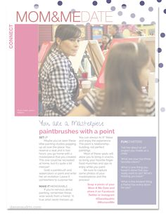 MOM+ME Date called Paintbrushes with a Point | ModernMotherhood Magazine May 2014 - Dana Vaudrin