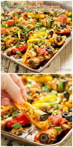 #Appetizer / Mini Bell Pepper Chicken Nachos