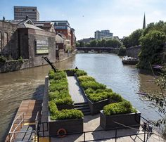 'Seeds of Change' is a floating garden; the result of a collaboration between the designer Gitta Gschwendtner and the artist Maria Thereza Alves.