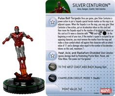 Silver Centurion #001b Invincible Iron Man Booster Set Marvel Heroclix - Invincible Iron Man Booster Set - Heroclix
