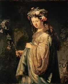 Rembrandt van Rijn - Rembrandt, Saskia als Flora