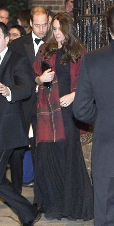 Kate in a DvF gown
