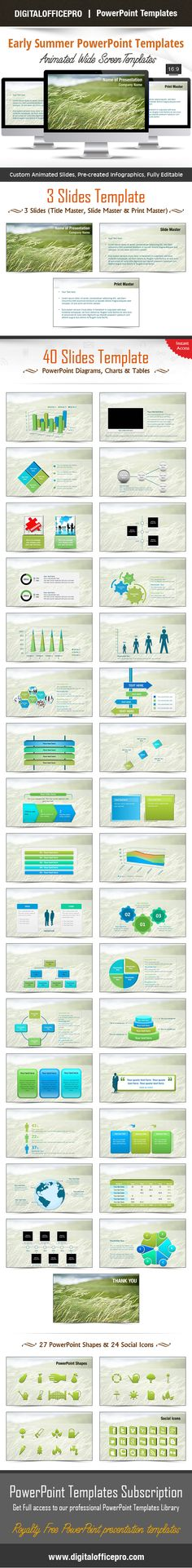 Piano PowerPoint Template Backgrounds Piano, Shape and Set of - summer powerpoint template