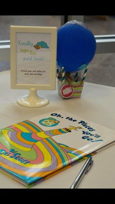 Oh the places you'll go...Baby shower guest book #hotairballoon