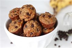 Get ready to fill your home with a mouthwatering aroma and better yet, sink your teeth into the most delicious grain-free Banana Chocolate Chip Mini Muffins