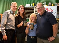 Here's an exclusive first look at this year's Oktoberfest mug. We paid a visit to our good friend Kim Faris today, and of course we just had to show off the new mugs! The DAI's annual Oktoberfest is less than three weeks away - September 26-28. For more info, go to www.daytonartinstitute.org/oktoberfest. #OktoberfestDayton #Oktoberfest #Dayton