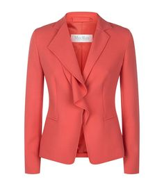 Max Mara Dardano Layered Jacket In Pink Formal Jackets For Women, Blazer Jackets For Women, Classy Dress, Classy Outfits, Work Suits, Office Outfits, Skirt Suit, Work Wear, Fashion Online