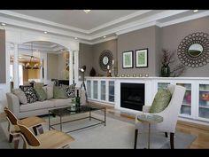 Living room decor {I like this wall color! ~The Style Maven}