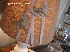 "Lamp ""jewelry""...paper birds"