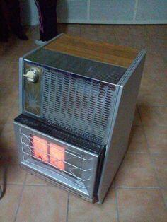 Estufa de gas - la tenían puesta en el cole para que no muriéramos congelados