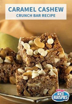 ... Cashew Crunch Bars. Chock full of white chocolate chips, nutty cashews