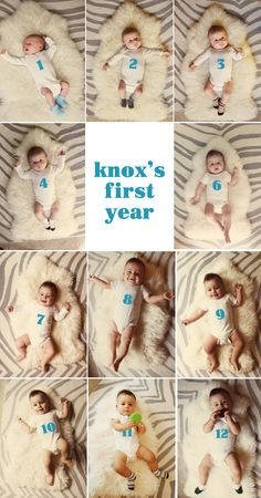 monthly baby photos for first year