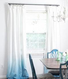 Ombre DIY Curtains are the way to go for DIY window decor!