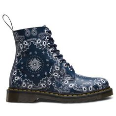 Love these, how to polish navy...?Dr-Martens-Pascal-Bandana-8-Eyelet-Navy-White-Womens-Boots