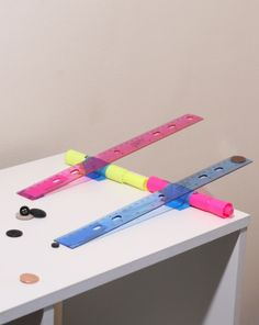 Ready for takeoff! Make science fun and teach about levers and fulcrums as your child sends pennies flying.