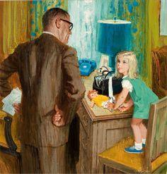Alexander Sharpe Ross (American, Bandaging the Doll. James Stuart, James D'arcy, Art And Illustration, Frederick Smith, Raymond James, Alex Ross, Art Forms, Girl Dolls, New Art