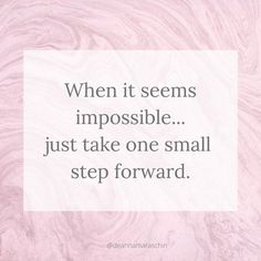 Progress is progress, no matter how small. #inspiration #progress #goalsetting #goalsanddreams #doer #actiontaker #inspirationalquotes #quotesforwomen Woman Quotes, Life Quotes, Motivational Quotes, Inspirational Quotes, One Small Step, You Gave Up, Daily Motivation, Encouragement Quotes, Positive Affirmations