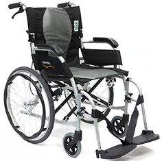 New Karman Ergo  S2512Q18SS  Flight Ultra Lightweight Ergonomic Wheelchair with Quick Release Wheels 18 Seat Width <3 Find out more by clicking the VISIT button