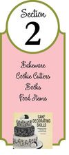 Check out all our Bakeware, Cookie cutters, Books, and Food Items!