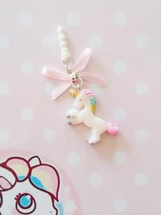 charm plug phone kawaii unicorn polymer clay