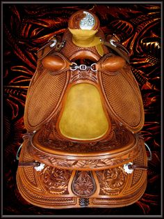 This is a Wade saddle built on a Jeremiah Watt signature hand-made saddle tree.  PURE ART!!