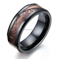 8mm Ceramic Ring Hunting Camo Design Anniversary Wedding Band Men's Ring #UnbrandedGeneric #Band
