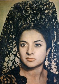 Lola Flores, Spanish singer, dancer, and actress.