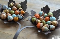 How to Paint Acorns - Home Stories A to Z - i wish i knew where to find acorns in CA!
