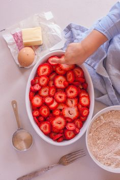 This healthy, easy strawberry cobbler recipe is made with whole foods and perfect for getting your kids in the kitchen. From EatingRichly.com