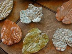 Create concrete garden art using real leaves as molds.