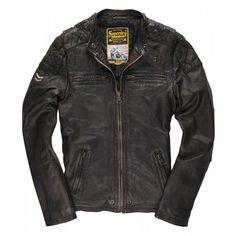 Bright & Smart-Casual Guys Apparel In Superdry Fall-Winter 2018 Leather Fashion, Leather Men, Cool Outfits For Men, Superdry Jackets, Smart Casual Men, Vintage Leather Jacket, Leather Jackets, Cute Jackets, Casual Jackets