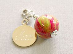 Flower Petal Jewelry-In Memory of or to thank someone special... Charm 22mm   #customjewelry