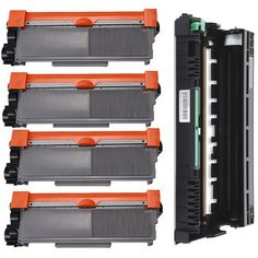 Prinko 5-pack Replacing Brother 1 by TN-650 Toner Cartridge Plus 1 by DR-620 Drum Unit